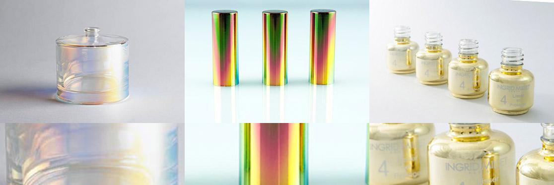 Metallization on glass, plastic and metal